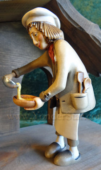 Kastlunger Chef with Porridge for LEPI Kastlunger Wooden Nativity