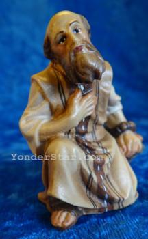 Shepherd Kneeling LEPI Nazarene Wooden Nativity