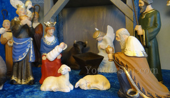 Hand-carved wood nativity Norway