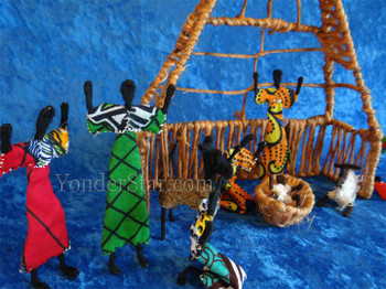 Nativity scene from Zambia