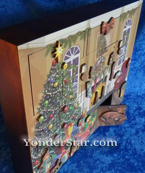 Heirloom wooden advent calendar