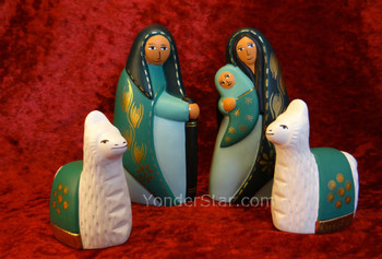 Nativity with llamas