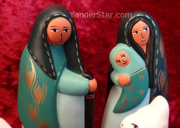 ceramic nativity Peru