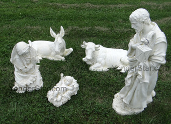 Outdoor Nativity Set Ivory Statues