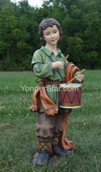 large outdoor nativity drummer boy