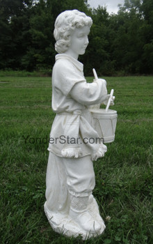 Large Outdoor Nativity Drummer Boy Ivory - 30011