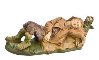 Shepherd sleeping nativity Germany Marolin.