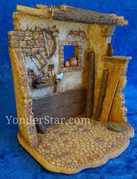 "Carpenter's Shop for 5"" Fontanini Nativity Village 55589"