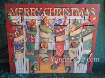 Stockings wooden Advent Calendar