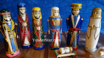 wooden nativity set Kyrgyzstan