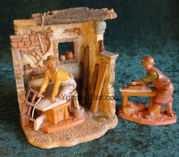 "Carpenter's Shop Scene 5"" Fontanini Nativity Village Set s55589"