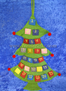 Extra Large Advent Calendar Tree New Zealand Wool