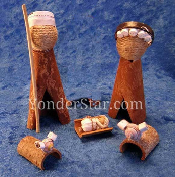 Cinnamon bark nativity scene Vietnam