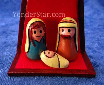 shining star nativity scene