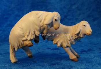 Two Lambs Jumping LEPI Venetian Nativity