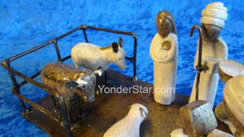 Zimbabwean Nativity Set Made From Serpentine Stone