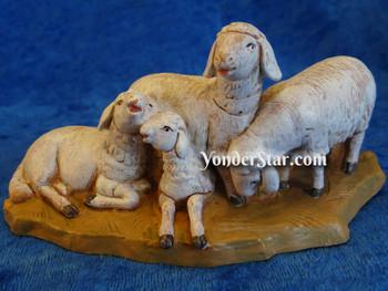 "Sheep Herd on Base - 5"" Fontanini Animals"