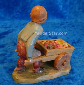 "Hugo - 5"" Fontanini Boy with Cart  54089"