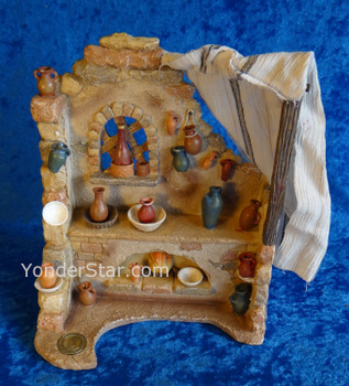 "10"" Pottery Shop for 7.5"" Fontanini Nativity figures"
