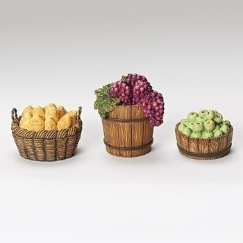"Basket set for 7.5"" scale Fontanini Nativity - 3 pc"