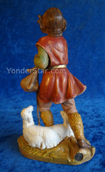 "Paul - 12"" Fontanini Nativity Shepherd with Sheep  52926"