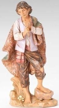"Daniel, Shepherd with Flute for 12"" Fontanini Nativity"