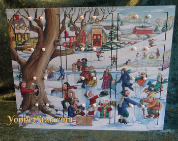 Byers Choice Winter Fun Wooden Advent Calendar