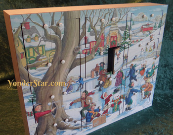 Snowy Day Wooden Advent Calendar