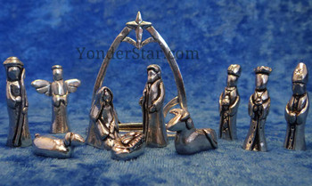 Pewter nativity from Canada