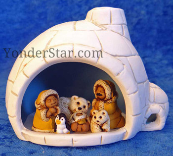Inuit nativity in igloo