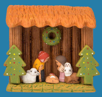 Woodland nativity scene