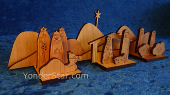 Cherry nativity scene Pennsylvania