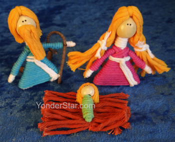 Cotton and Wire Nativity from Colombia