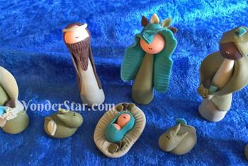 Bread dough nativity set