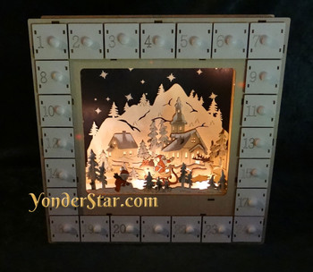 Lighted Advent calendar