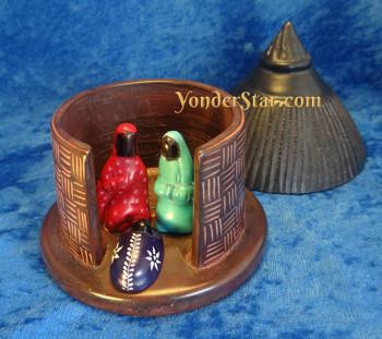 Kenyan soapstone nativity set