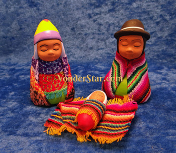 Peruvian highland nativity set