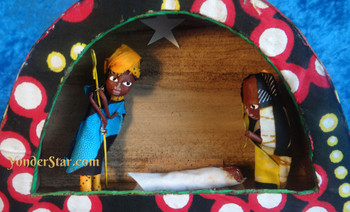 Fair trade nativity set Uganda