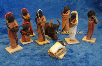 Barkcloth Nativity Set Uganda
