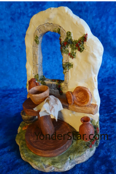 Pottery wheel nativity set