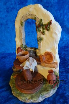 Pottery wheel nativity set