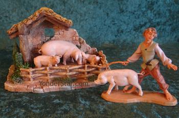 Fontanini nativity pigpen set