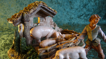 Fontanini nativity pigpen scene