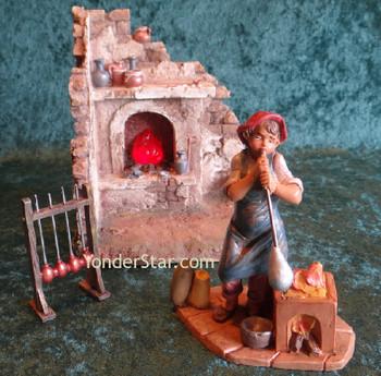 Fontanini nativity glass blower set