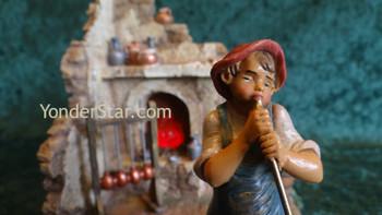 Fontanini village glass blower scene