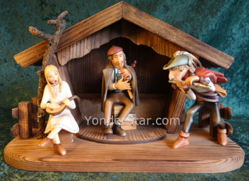 Kastlunger Nativity Musicians Ensemble LEPI Kastlunger Wood Nativity