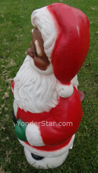 Lighted Outdoor  African American Santa Claus General Foam Plastics