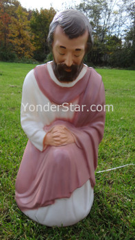 Kneeling Joseph for Lighted Outdoor Nativity - 1 Left in Stock