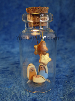 Message in a Bottle nativity