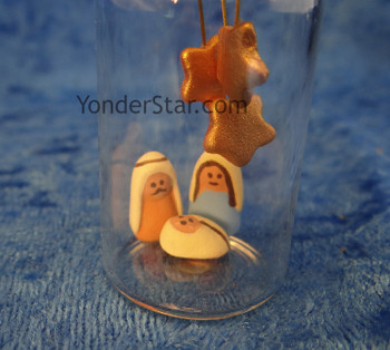 nativity scene in a bottle